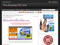 Free Shopping Gift Cards