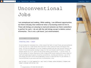 Unconventional Jobs