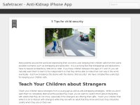 Safe Tracer - Anti-Kidnap iPhone App